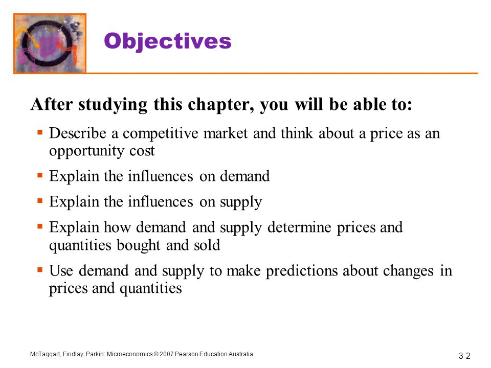 Objectives After studying this chapter, you will be able to: