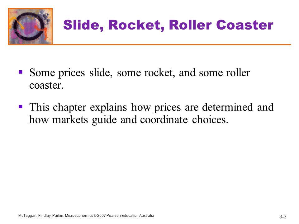 Slide, Rocket, Roller Coaster