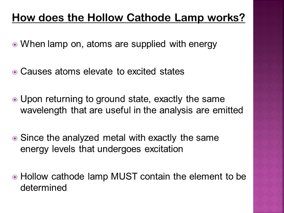 How does the Hollow Cathode Lamp works