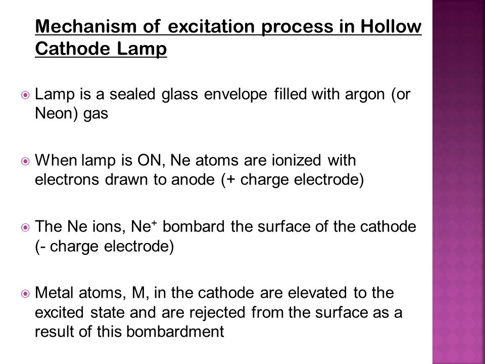 Mechanism of excitation process in Hollow Cathode Lamp
