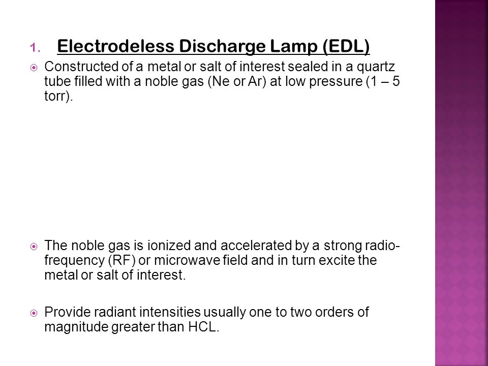 Electrodeless Discharge Lamp (EDL)