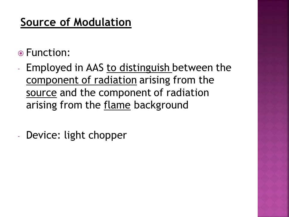 Source of Modulation Function: