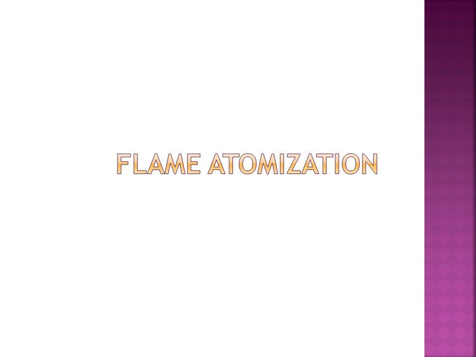 Flame atomization