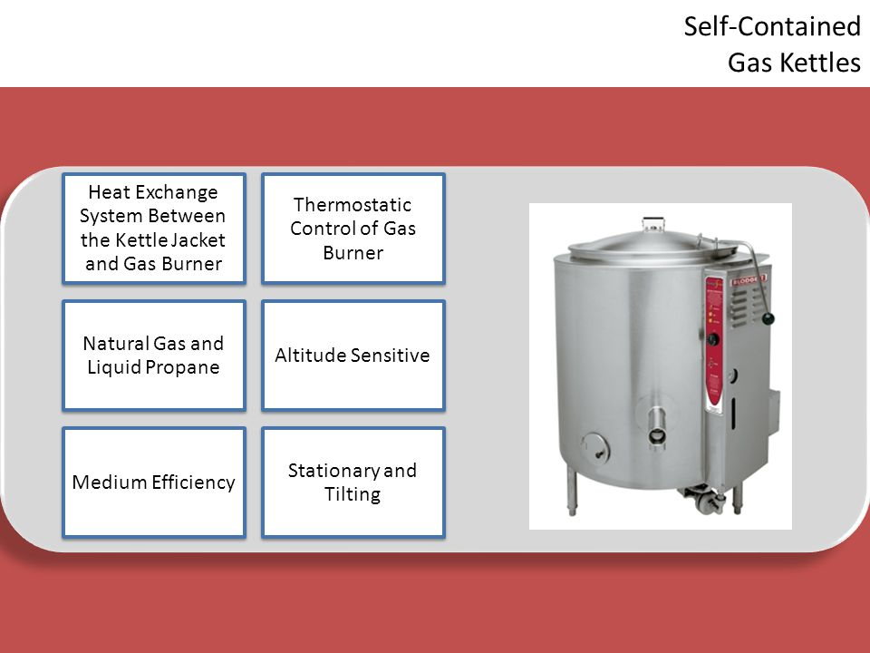 Self-Contained Gas Kettles