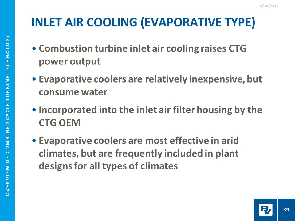 Inlet Air Cooling (Evaporative Type)