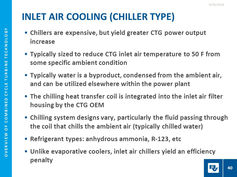 Inlet Air Cooling (Chiller Type)