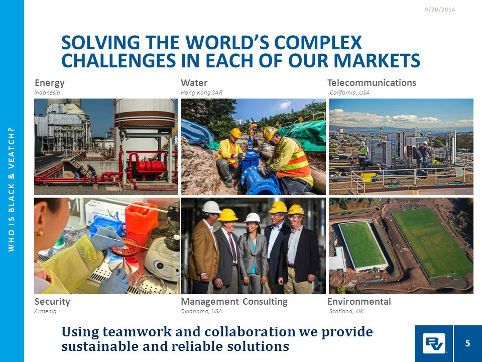 Solving the world's complex challenges in each of our markets