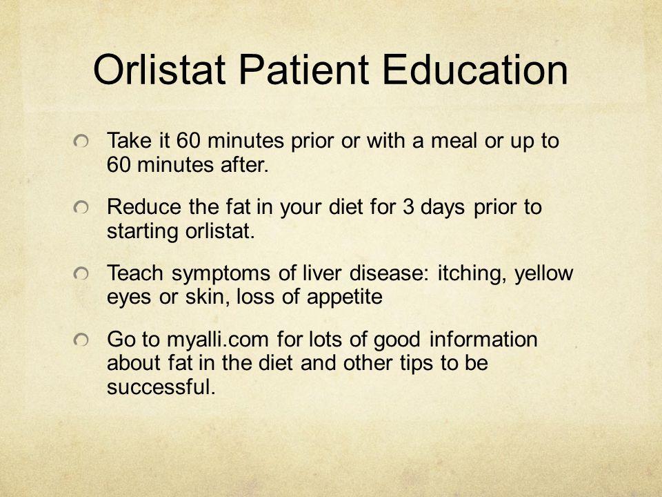 Orlistat Patient Education