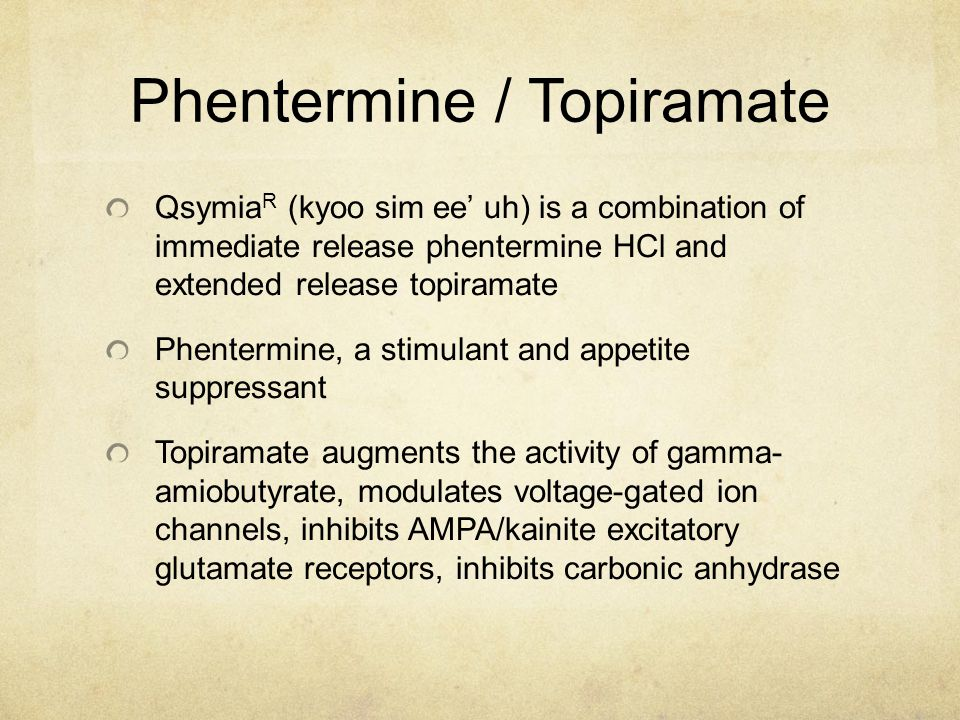 Phentermine / Topiramate