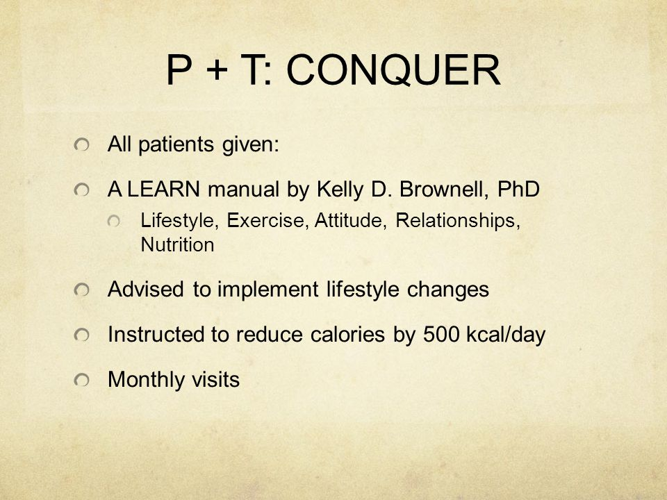 P + T: CONQUER All patients given: