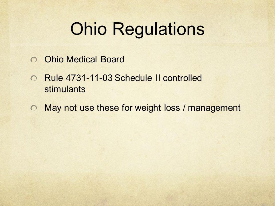Ohio Regulations Ohio Medical Board