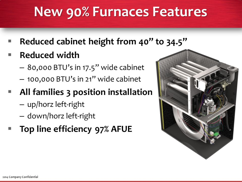 New 90% Furnaces Features
