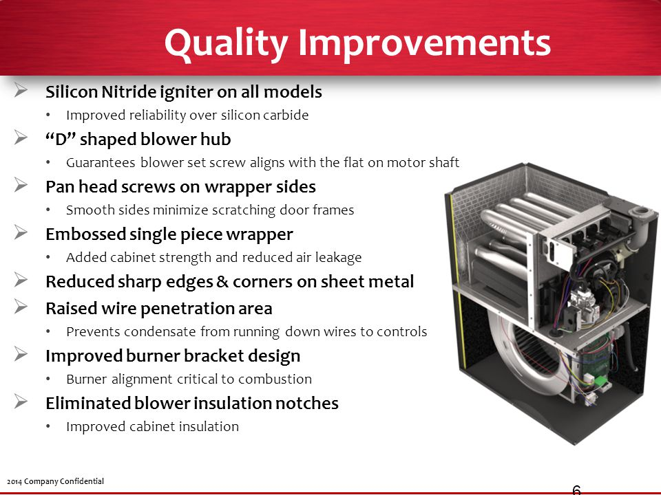 Quality Improvements Silicon Nitride igniter on all models