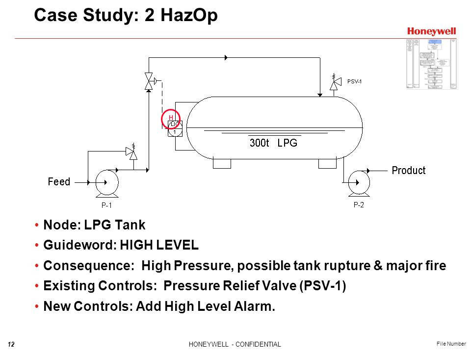 Case Study: 2 HazOp Node: LPG Tank Guideword: HIGH LEVEL