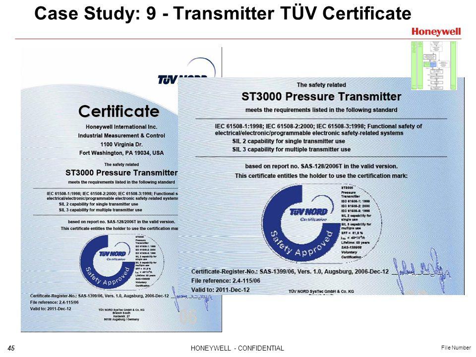 Case Study: 9 - Transmitter TÜV Certificate