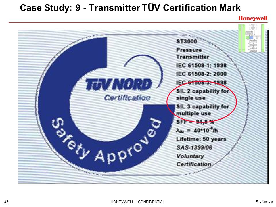 Case Study: 9 - Transmitter TÜV Certification Mark
