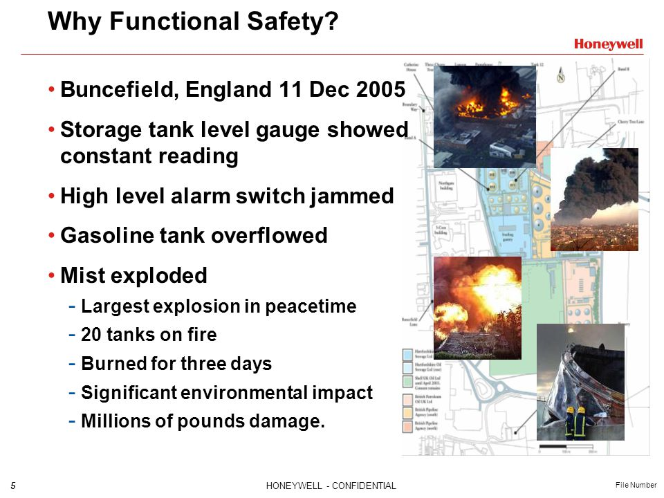 Why Functional Safety Buncefield, England 11 Dec 2005