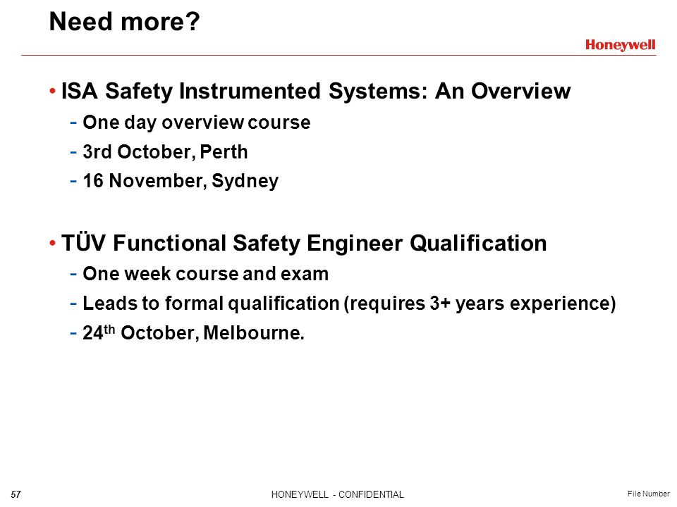 Need more ISA Safety Instrumented Systems: An Overview