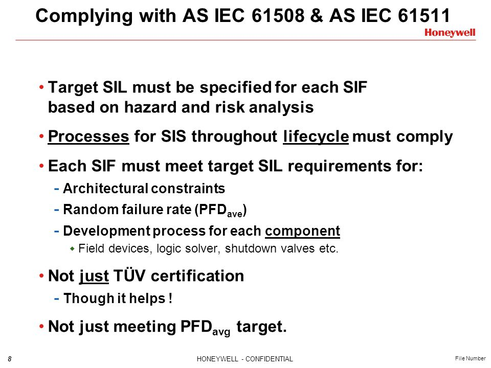 Complying with AS IEC 61508 & AS IEC 61511
