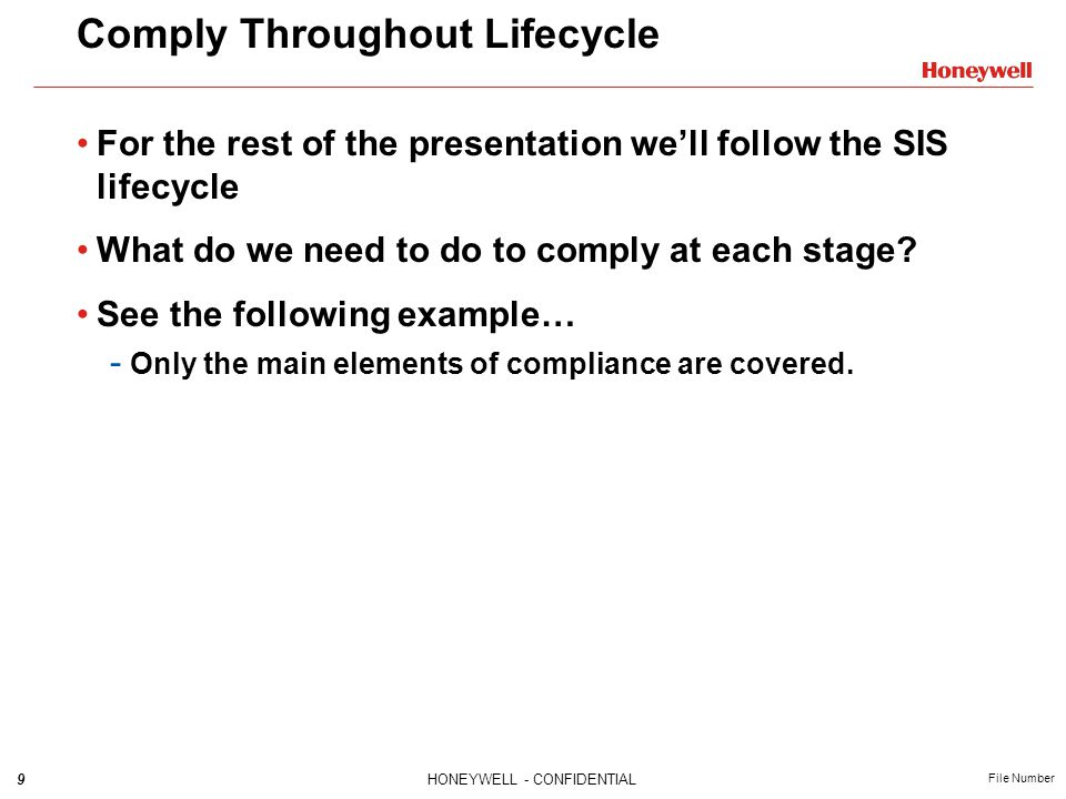 Comply Throughout Lifecycle