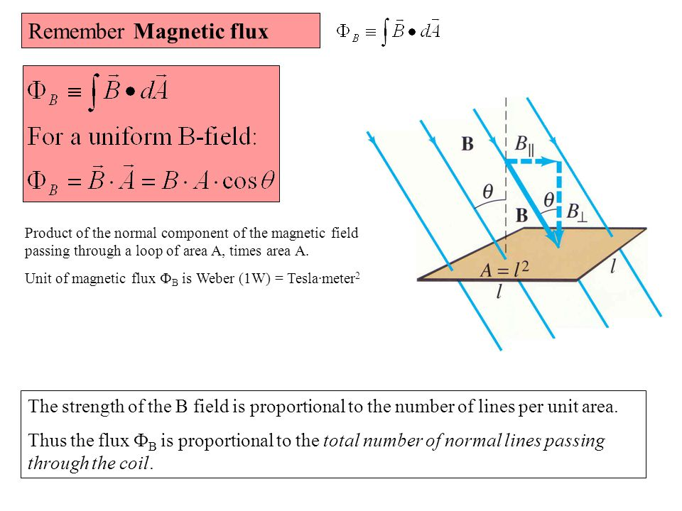 Remember Magnetic flux