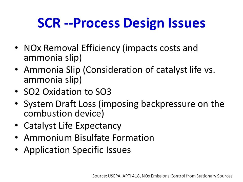 SCR --Process Design Issues