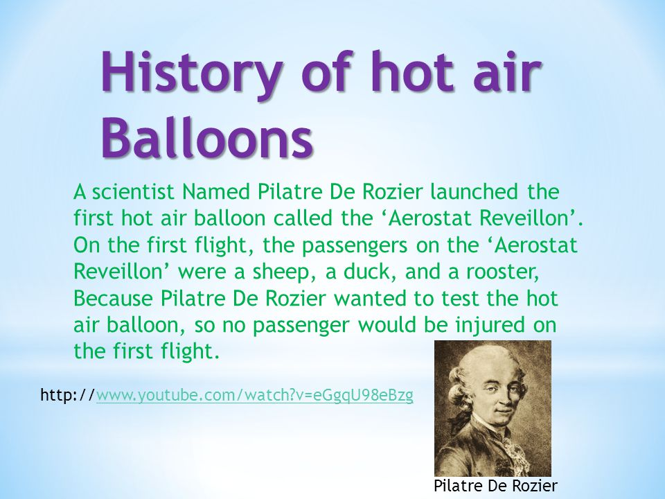 History of hot air Balloons