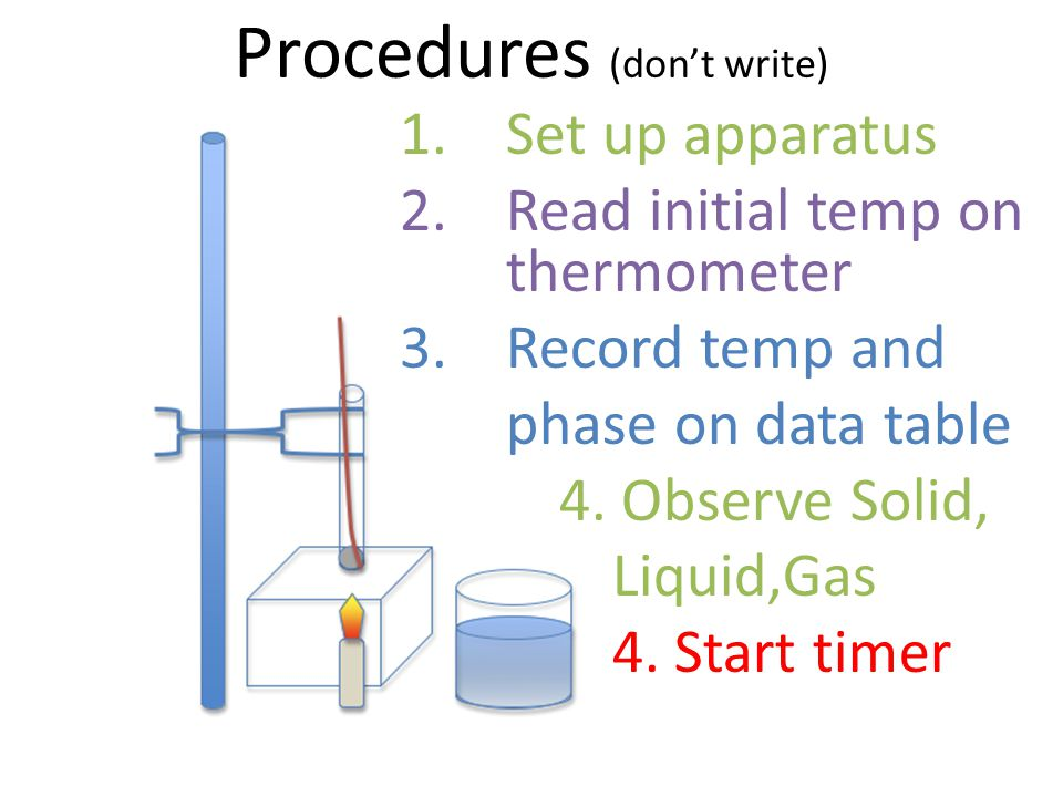 Procedures (don't write)