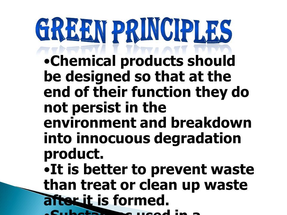 Green principles