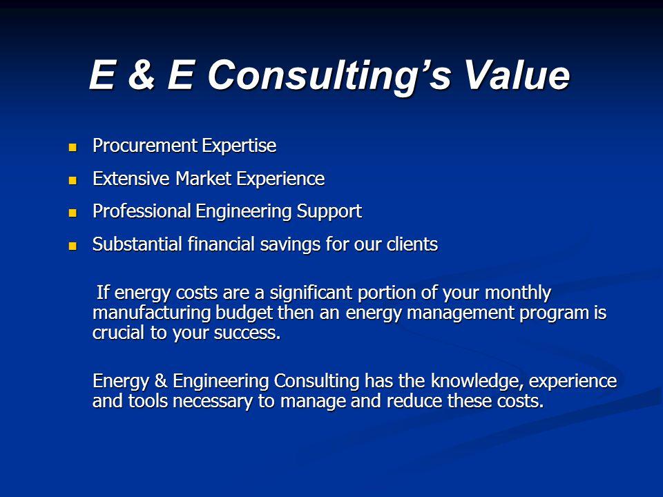 E & E Consulting's Value