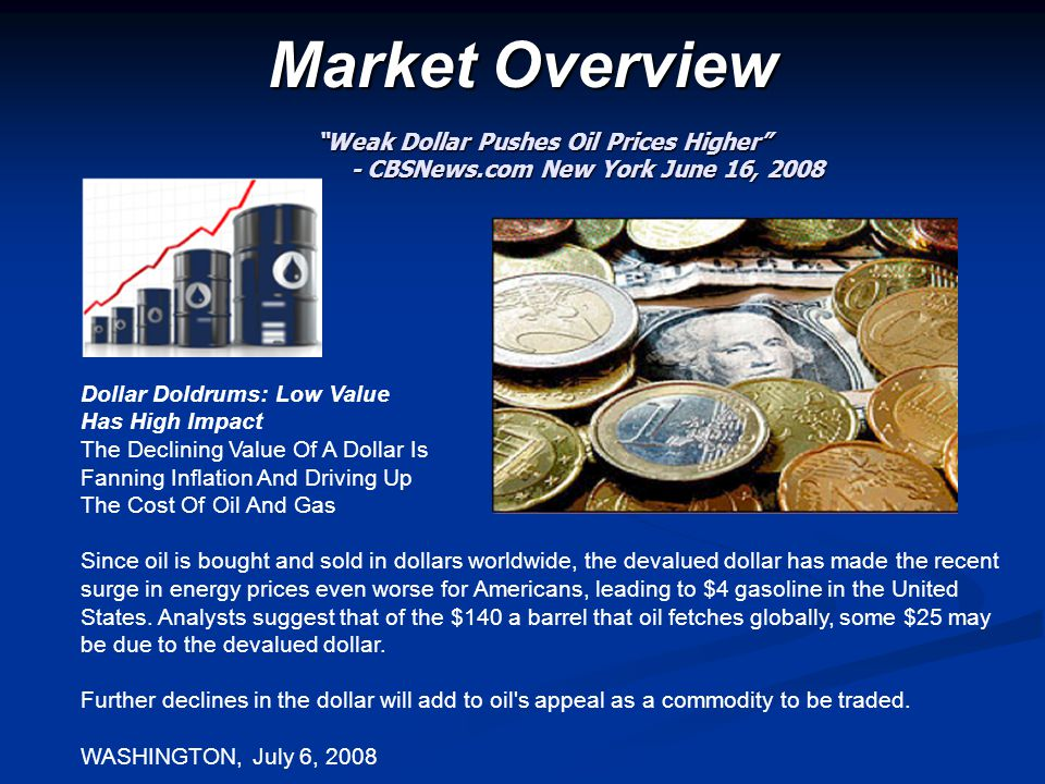 Market Overview Weak Dollar Pushes Oil Prices Higher