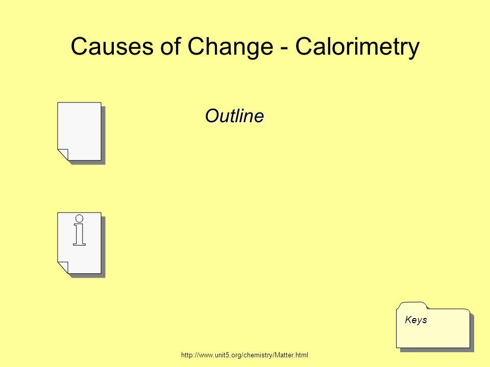 Causes of Change - Calorimetry