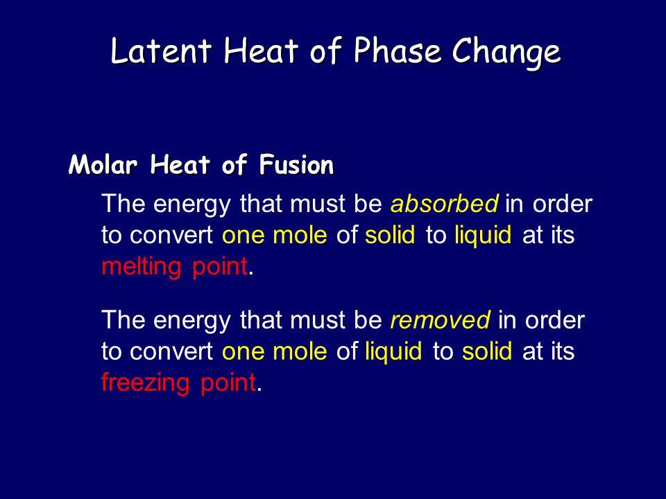 Latent Heat of Phase Change