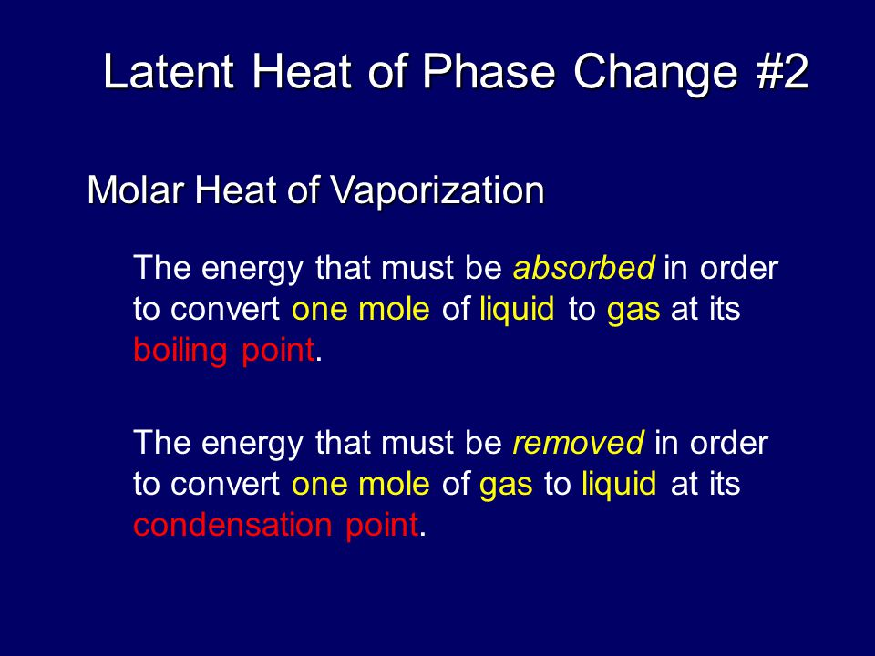 Latent Heat of Phase Change #2