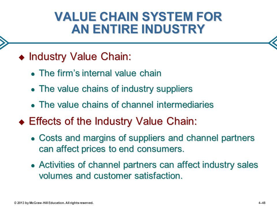 VALUE CHAIN SYSTEM FOR AN ENTIRE INDUSTRY