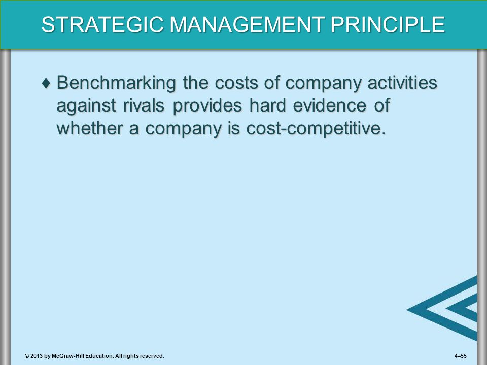 Benchmarking the costs of company activities against rivals provides hard evidence of whether a company is cost-competitive.