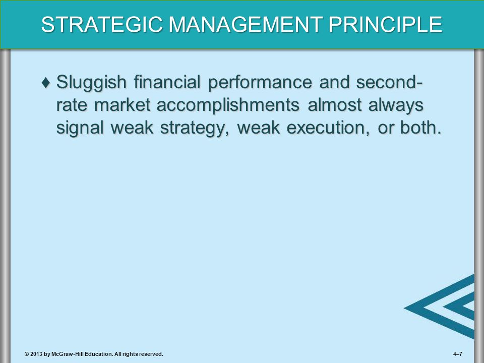 Sluggish financial performance and second-rate market accomplishments almost always signal weak strategy, weak execution, or both.