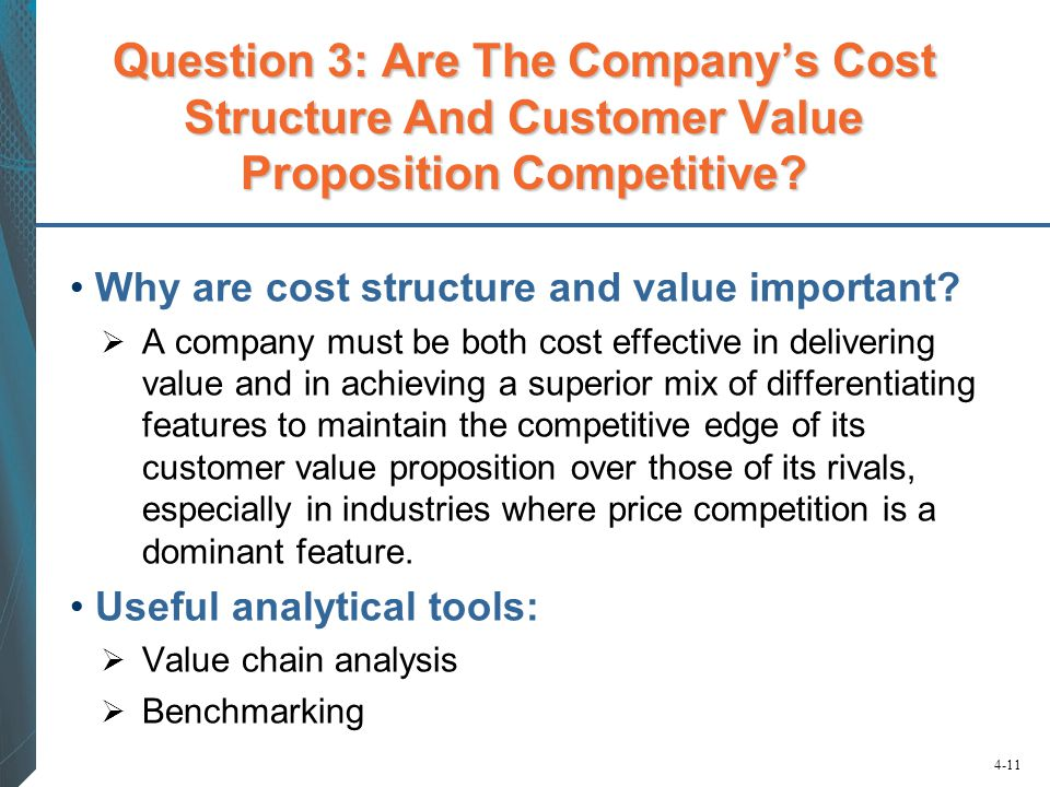 Question 3: Are The Company's Cost Structure And Customer Value Proposition Competitive