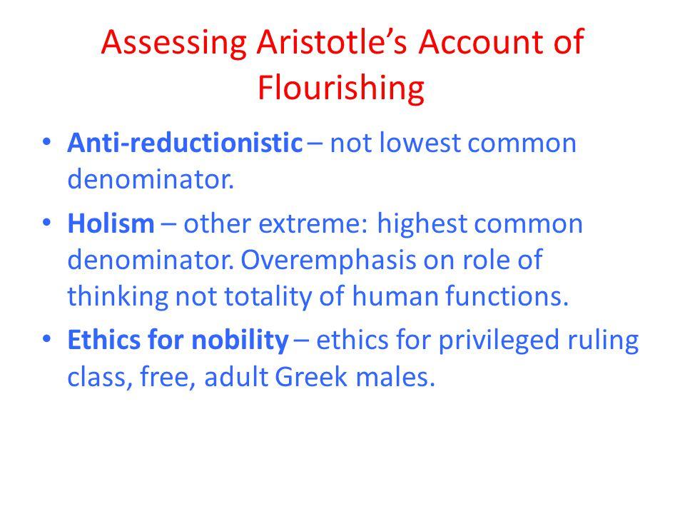 Assessing Aristotle's Account of Flourishing
