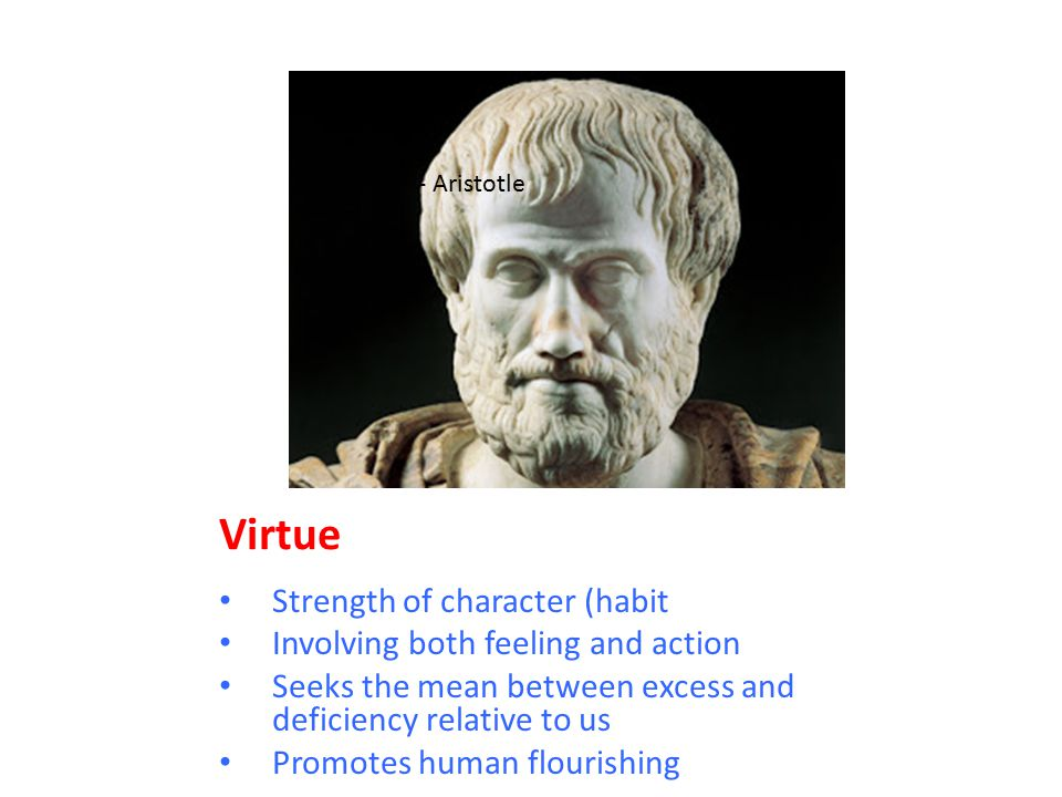Virtue Strength of character (habit Involving both feeling and action