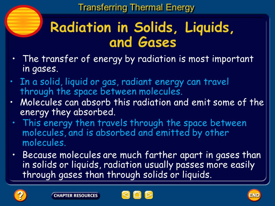 Radiation in Solids, Liquids, and Gases