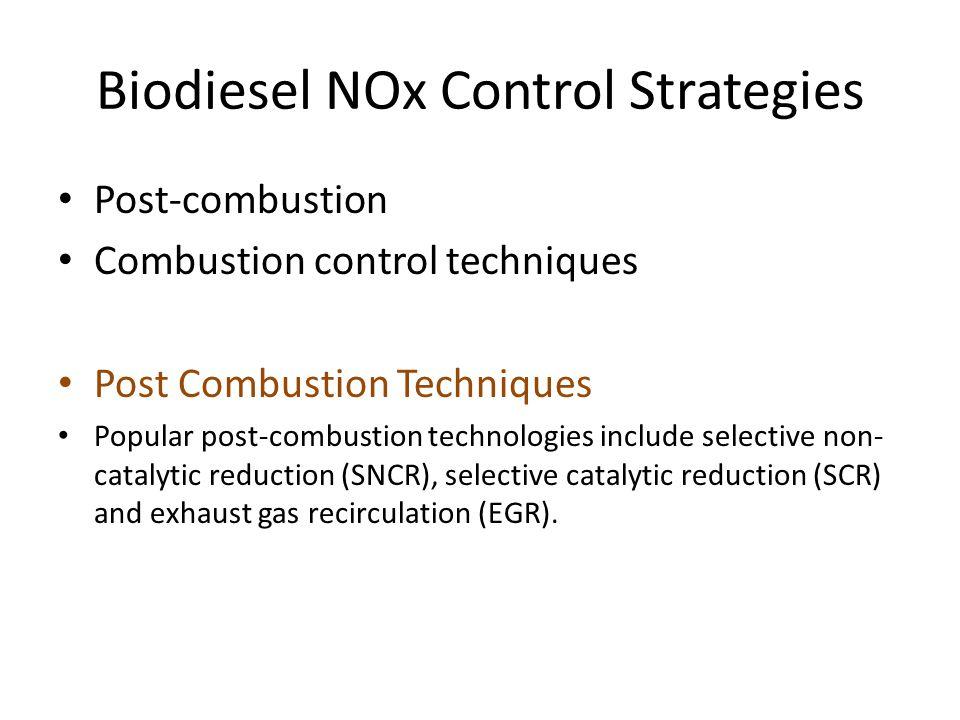 Biodiesel NOx Control Strategies