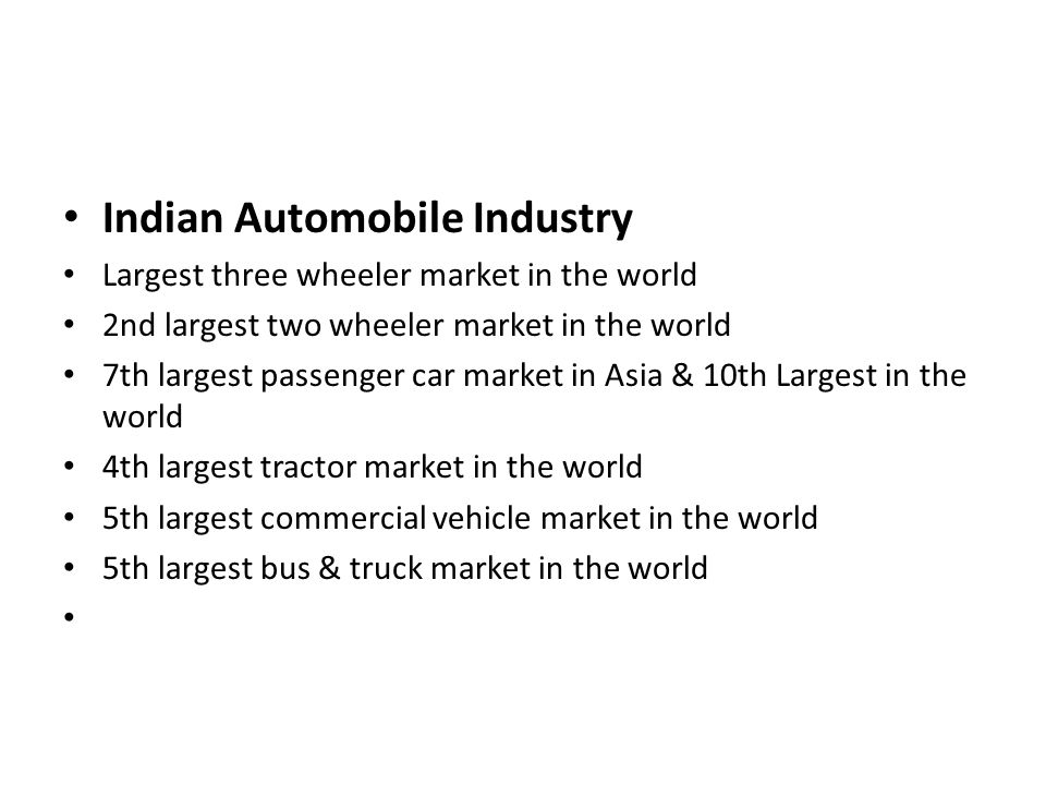 Indian Automobile Industry
