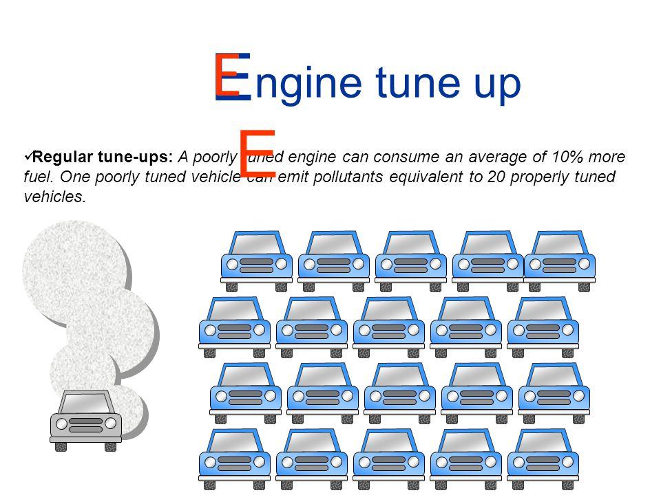 EE E. ngine tune up.
