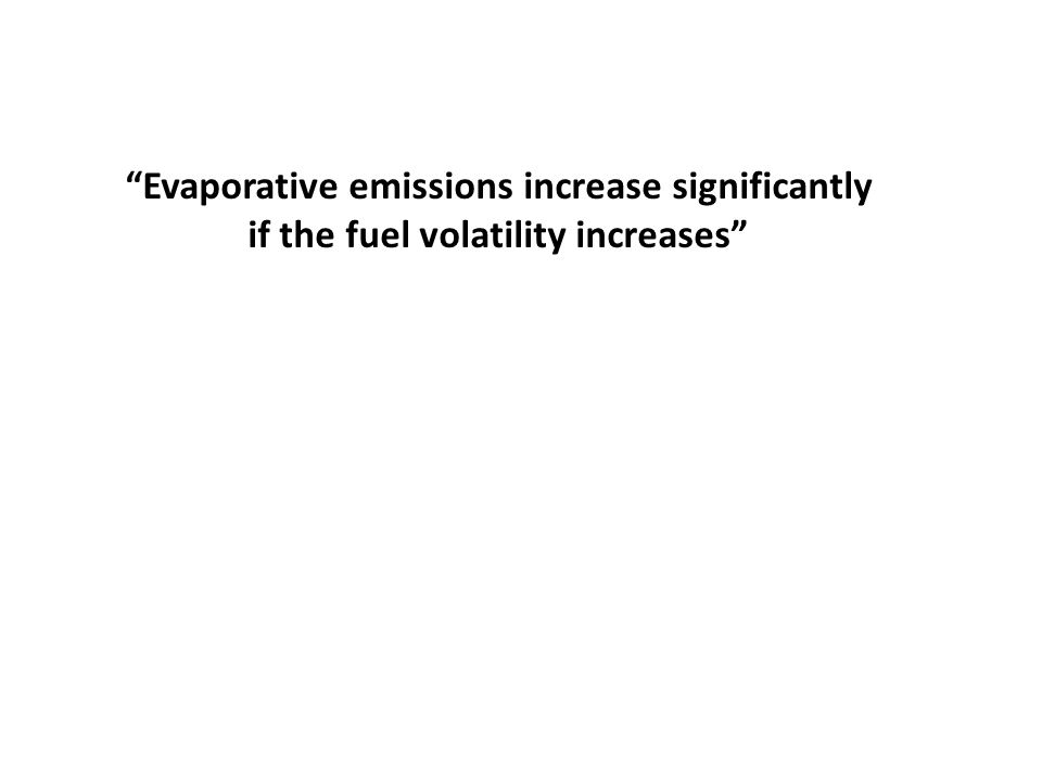 Evaporative emissions increase significantly
