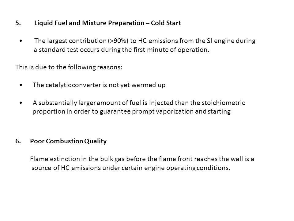 5. Liquid Fuel and Mixture Preparation – Cold Start