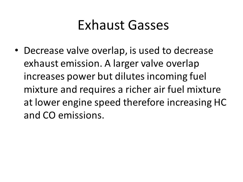 Exhaust Gasses