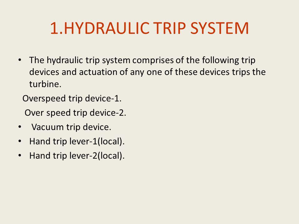 1.HYDRAULIC TRIP SYSTEM