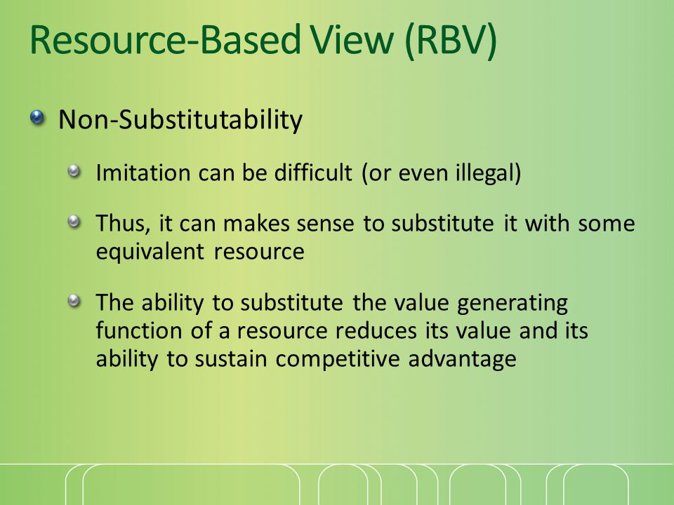 Resource-Based View (RBV)