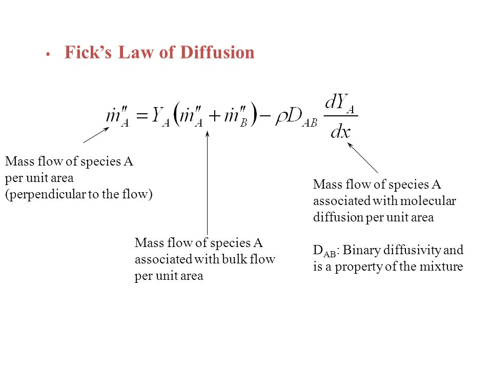 Fick's Law of Diffusion